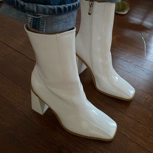 Nasty gal white patent shoes